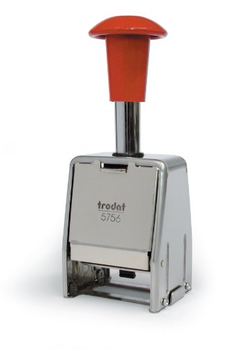 Trodat 86624 - Timbro numerico automatico autoinchiostrante in Metallo, 8 Regolazioni, Cifre da 5,5 mm