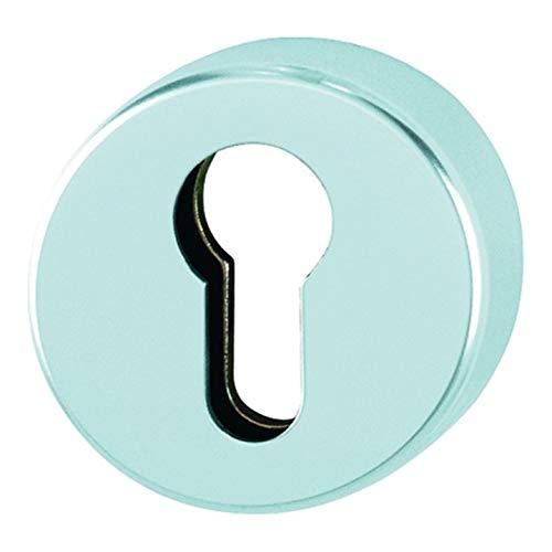 Schlüsselrosette 42HS Alu.F1 Schildst.10mm PZ rd.HOPPE