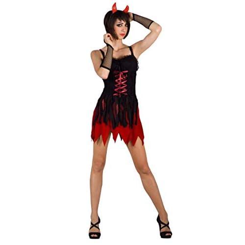 Ciao-Costume Sexy Devil, taglia unica adulto Donna, Rosso,nero, 62151