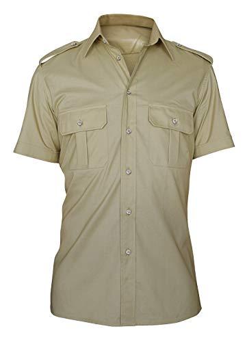C.B.F. - Produzione professionale abbigliamento da lavoro Camicia Uomo Doppio Taschino Manica Corta Colore Sabbia Kaki Marrone (17)