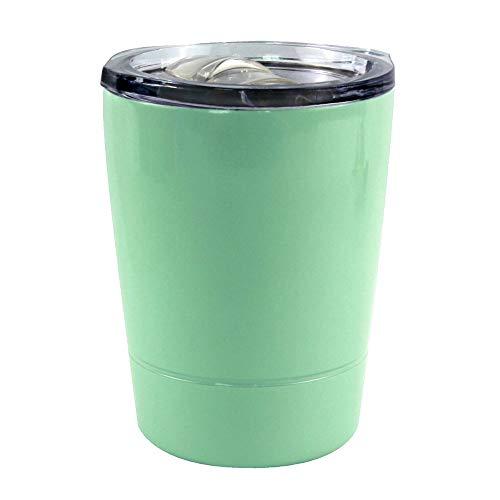 DUOLE Thermobecher, isolierter Kaffeebecher mit auslaufsicherem Deckel, Mini-Größe, 230 ml, Reisebecher für heiße und kalte Getränke, Isolierung aus Edelstahl (Minzgrün)