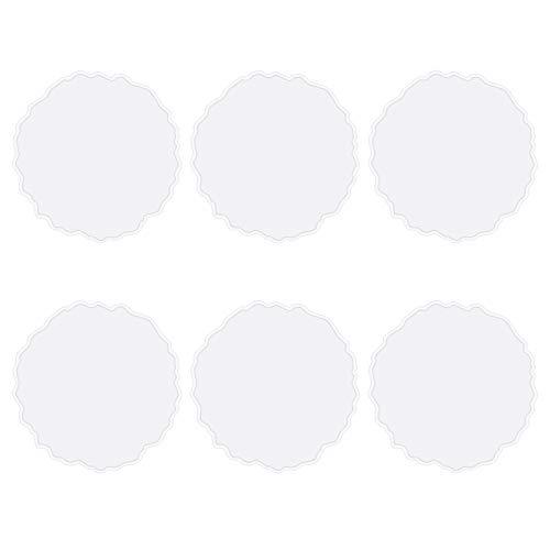 Jubaopen 6pcs Stampi in Resina per Creazioni Fai da Te Irregolare Stampo per Sottobicchiere in Silicone Stampo in Resina a Forma Rotonda Trasparente per Vassoio Piatto Decorazione