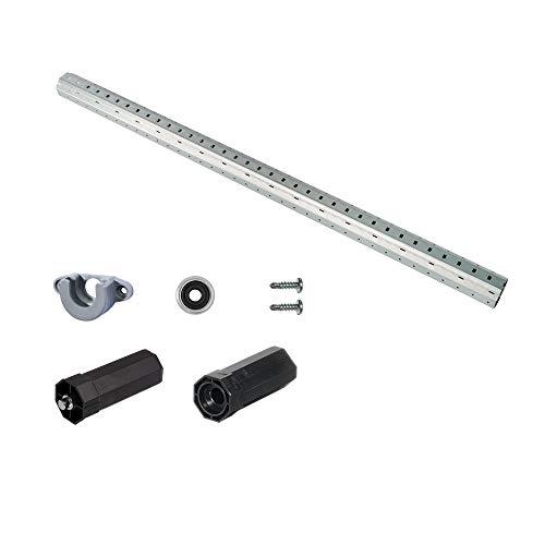 jarolift Wellenset SW40 Basic für Vorbau- und Aufsatzkästen bis 120 cm, Komplettset Rollladen-Welle Achtkant