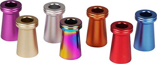 yaoviz® 2x Glutkiller 30mm hoch für Aschenbecher Kegel metall rainbow bunt unten offen Gluttöter Glutlöscher