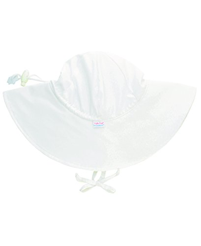 RuffleButts Baby/Toddler Girls or Adjustable White Sun Hat w/UPF 50+ Protection - 12-24m