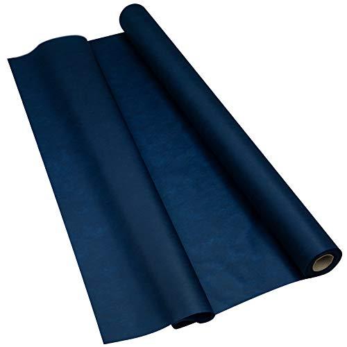 Sensalux Light Tischdeckenrolle, Oeko-TEX ® 100 - Made in Germany - 25m lang (Farbe nach Wahl), blau, 1,10m x 25m, stoffähnliches Vlies, ideal für Jede Party, Vereinsfeier, Geburtstagsfeier