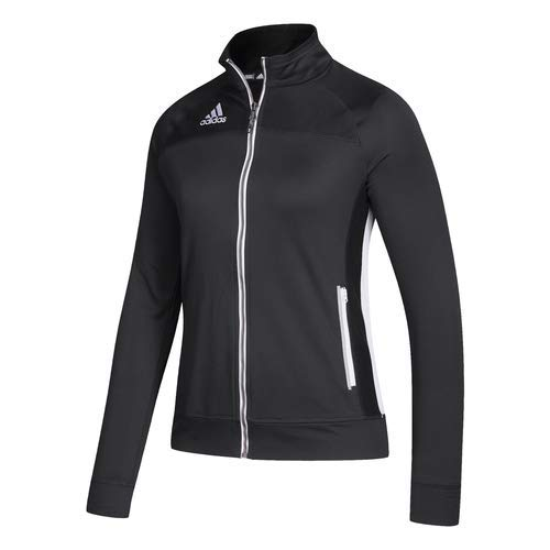 Adidas Womens Climalite Fitness Running Track Jacket Black L