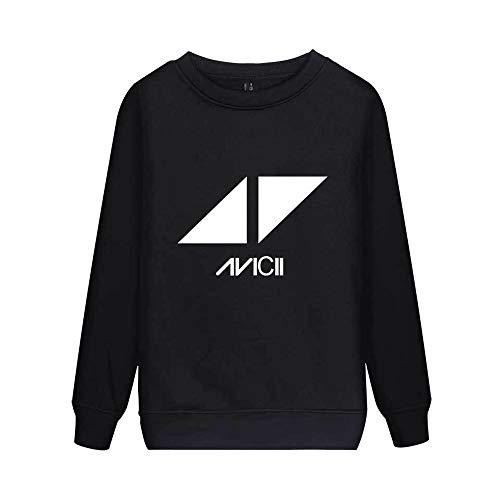 DJ Avicii Pullover Estampado Hermoso y Exquisito con el Jersey de Cuello Redondo Suéter de algodón de Manga Larga Unisex