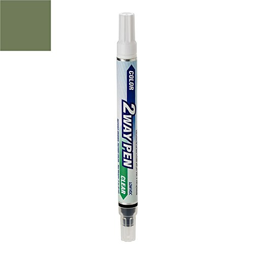 ColorRite Pen for Infiniti FX35 Automotive Touch-up Paint - Olive Green Metallic Clearcoat JAA - Color+Clearcoat Package