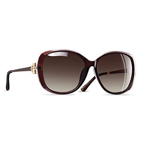 YNJZ Gafas de sol polarizadas para mujer de lujo 2020 Gafas de sol para mujer Gafas de sol con rhinestone para mujer Gafas UV400, C3Brown