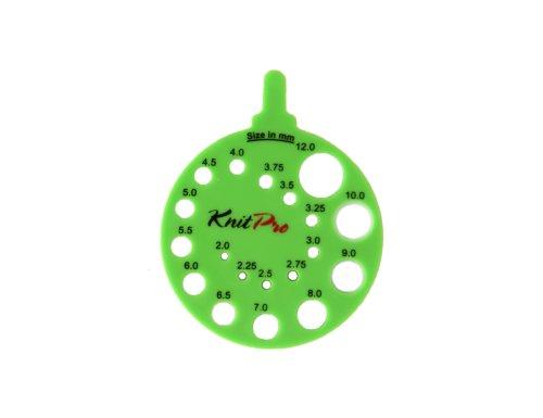 KnitPro Nadelmaß, Kunststoff, Grün, 6cm Durchmesser