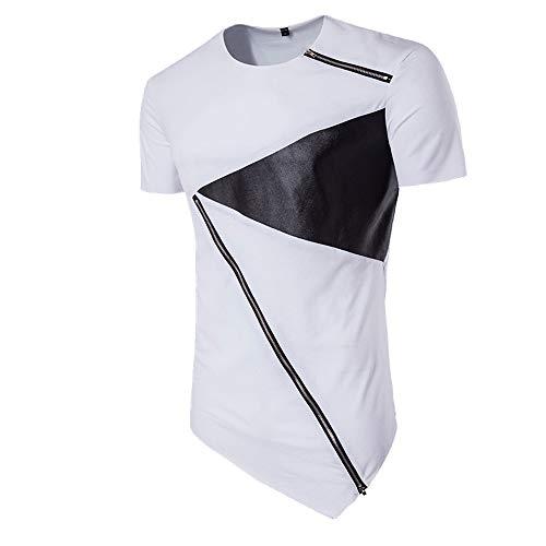 Nobrand Herren-T-Shirt, Hip Hop, modisch, personalisierbar Gr. M, weiß