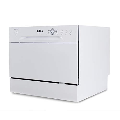 DELLA Mini Compact Countertop Dishwasher 6 Place Settings Portable For Small Apartment...