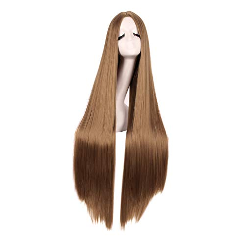 MapofBeauty 40 Inch/100cm Fashion Straight Long Costume Anime Cosplay Wig (Light Brown)
