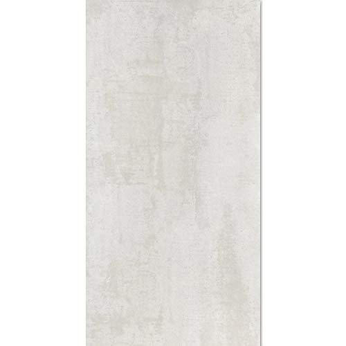 Bodenfliesen Metalloptik Lappato Weiß 45x90 | Steingut Fliesen Steinoptik Glänzend | Bad Wc Sanitär 30x60cm