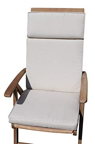 Garden Market Place Sitzkissen für Gartenmöbel für große Gartenstühle in Hellbeige, beige, 95 X 45 X 35