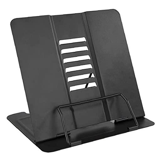 Eaarliyam Book Stand Cucina Ricetta Reading Holder Regolabile Metal Tablets Music Bookrest Black