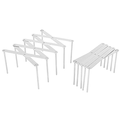 Kaxofang 2 Paquete Extensible Pot Titulares Lid MultipropóSito Steamer Rack Sartenes Vidrios Chapa de FijacióN Cocina para Hornear Tabla Cortar Tendedero de Gabinete Despensa (2 Piezas)