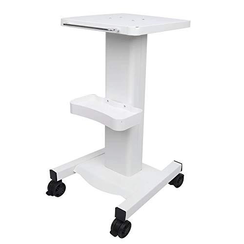 Salon Trolley, Professional Utility Cart mit Roller, Multi-Layer-beweglichen Beauty Instrument Ständer Tray Cart für Beauty Salon 27,6 x 13,7 Zoll(Weiß)