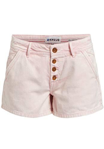 khujo Damen Hose Barby Regular Fit mit Mid Waist Shorts Hotpants aus Baumwoll Denim