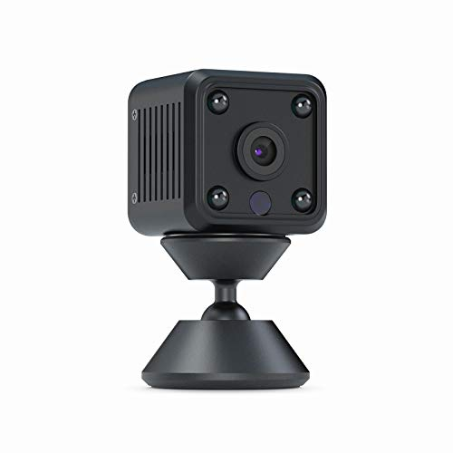 CACAGOO Mini Camara, 1080P HD Cámara Vigilancia 2.4Ghz WiFi Cámara Portátil Secreta Compacta con Detección de Movimiento IR Visión Nocturna Interior/Exterior