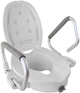 Mobiclinic, Model Guadiana, Toiletverhoger, WC verhoger, Toilet verhogen voor gehandicapten en senioren, Met deksel en arm...