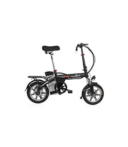 Riscko Wonduu Bicicleta Eléctrica Plegable | Batería 10,4 A.H | Modelo Volt BEP-48 | Negro