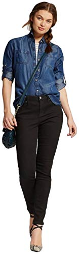 Mossimo Women's Mid Rise Skinny Jeans (Curvy Fit) (00/Long, Black)