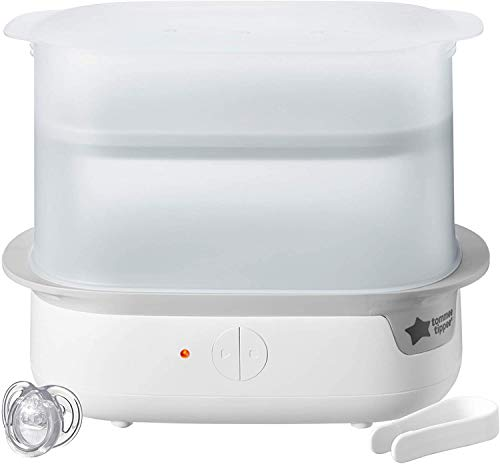 Tommee Tippee TT-FED50 Super Steam Advanced 423221 - Esterilizador eléctrico (200 g), color blanco