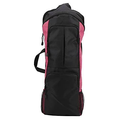 Soran Bolsa de Viaje Diagonal para Yoga, Bolsa de Yoga Multifuncional con múltiples Compartimentos para Gimnasio para Yoga para Deporte(Vino Tinto)
