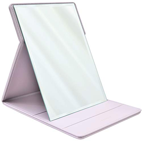 Premium Portable Travel Makeup Mirror by MODESSE (Lavender Grey)