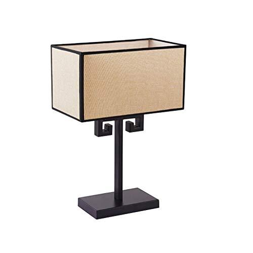 Hong Yi Fei-Shop Lampara Mesilla Lámpara de Mesa de Estilo Chino Creativo Personalidad Retro Lámpara de Mesa pequeña Dormitorio en casa Lámpara de cabecera Lámpara de Mesa