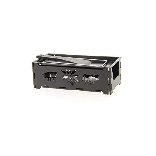 TABLE&COOK Service raclette pliable avec bougie chauffe plat 'Montagne' HHF-0356C