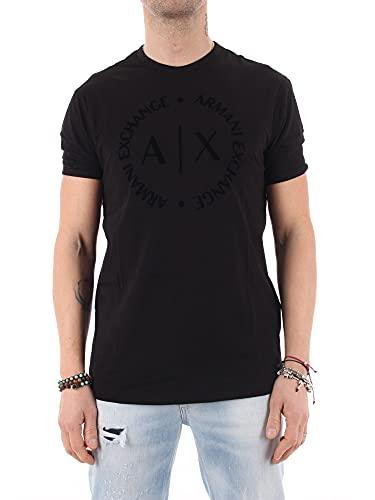 ARMANI EXCHANGE 8nztcd T-Shirt, Nero (Black 1200), X-Large Uomo