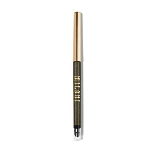 Milani Stay Put Eyeliner - Moss Boss (0.01 Ounce) Cruelty-Free Self-Sharpening Eye Pencil with Built-In Smudger - Line & Define Eyes with High Pigment Shades for Long-Lasting Wear