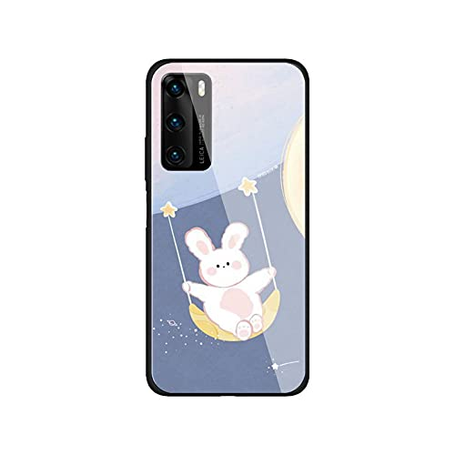 Funda para teléfono compatible con Huawei P9 10Plus 20PRO P30 Lite Carcasa trasera de vidrio templado compatible con NOVA 3E Series-a1 - Compatible con Huawei P10