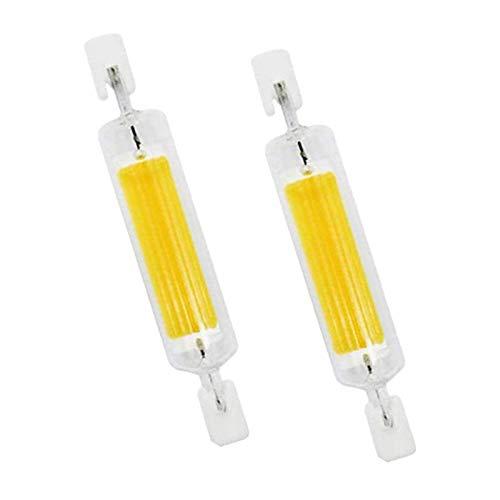 CNMJI R7S LED Birne 10W Entspricht R7S 100W Halogenlampe 1000Lm 230V 120V Dimmbar 78mm R7s LED Strahler Fluter für Wandleuchte/Flurbeleuchtung, 360-Grad-Licht(2Er Pack),Natural White,110V~140V