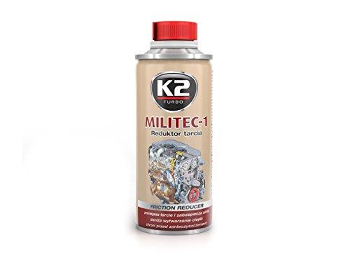 Synthetische K2 Militec-1 motorolie additief, motorbeschermer, 250 ml, metalen afwerkingsmiddel, slijtagebeschermer, corrosiebescherming, voor diesel- en benzinemotoren