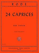 24 Caprices Composed By Pierre Rode. Edited By Ivan Galamian. For Violin. Studies. Instrumental Solo Book. Bowings and Fingerings. 51 Pages.