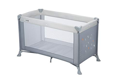 Safety 1st Soft Dreams Lit Parapluie Bébé De Voyage, Pratique et Compact Warm Grey