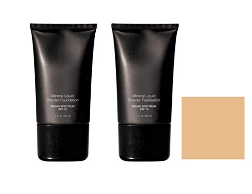 Beauty Deals Mineral Liquid Powder Foundation Broad Spectrum SPF 15 Pack of 2 (Tender Beige)