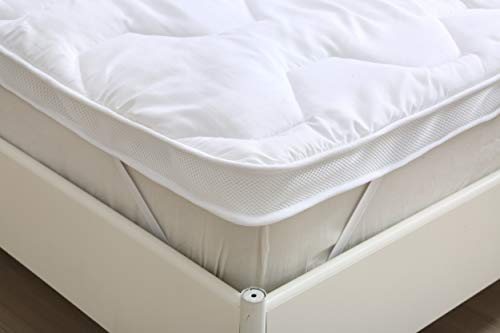 EHD Hotel Quality Super Soft 5cms Thick Microfibre Mattress Toppers Air Flow and Temperature Control Mattress Toppers (4FT Double)