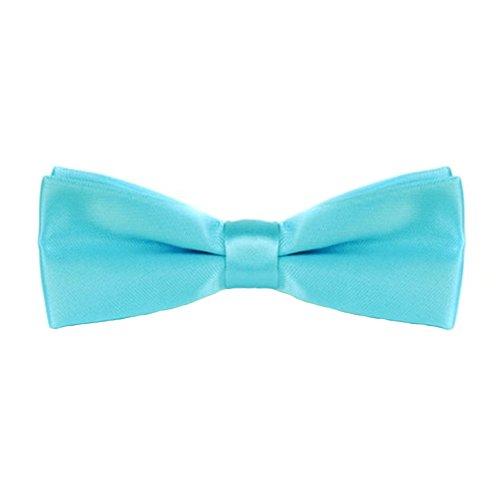 Premium Couleur unie Nœud papillon Nœud papillon nœuds papillon cravates pour homme/garçons/enfants – Bleu clair