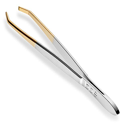 Boé Perel Slant Tip Eyebrow Tweezer - Professional Swiss Precision Hair Removal Tool