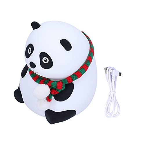 Cute Cartoon Panda Night Light, lámpara LED portátil para niñas, mujeres, niños(Big eye, Pisa Leaning Tower Type)