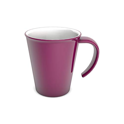 Ornamin Kaffeepott 300 ml brombeer/weiß (Modell 1201) / Kaffeebecher, Mehrwegbecher Kunststoff