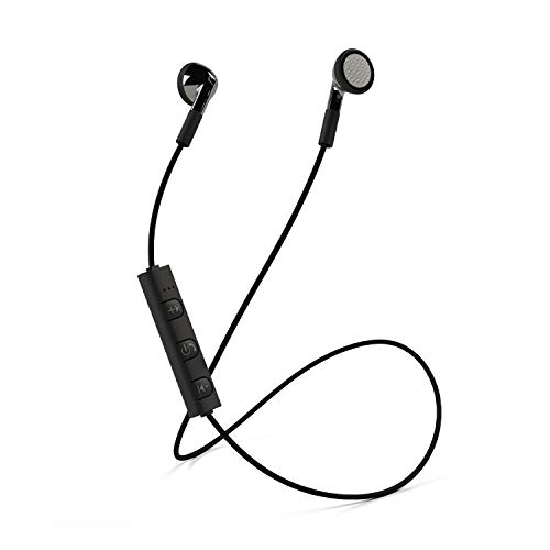 Mixx Audio | Classic Fit Bluetooth Wireless Stereo Earphones - Black - Compatible with Android/iPods/Ipads/iPhone