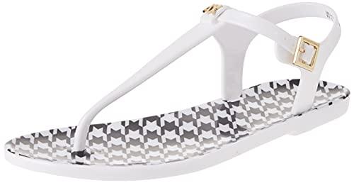 Armani Exchange Pied de Poule Print Thong, Flat Sandal Mujer