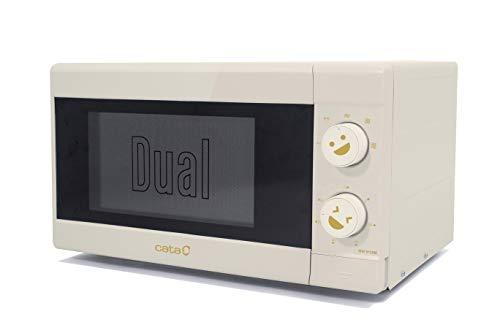 Cata Microondas independiente | Modelo MM 5120M G | Capacidad de 20 litros | 5 niveles de potencia | Acabado blanco | 50 cm de ancho