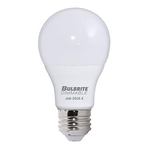 (Pack of 5) Bulbrite 774100, LED9A19/927/J/D, 9W LED A19 DIMMABLE ENCLOSED JA8 2700K E26 120V, LED Light Bulb